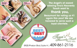 tina's heavenly touch massage and day spa best reader choice awards