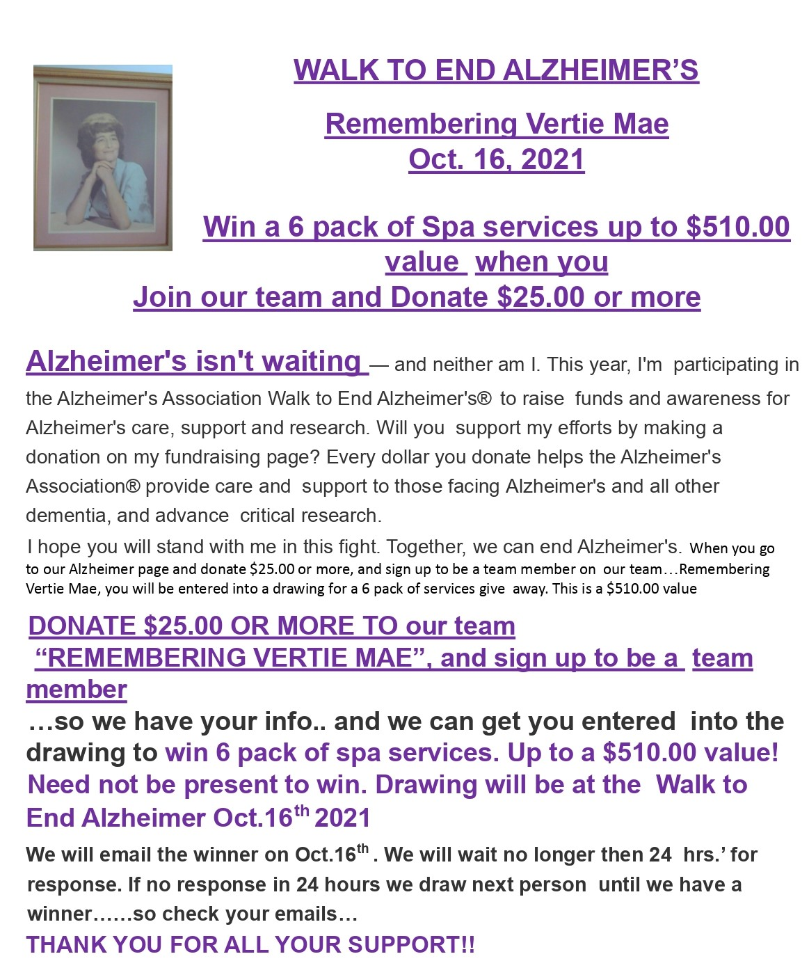 Alzheimer's 2021 website flyer